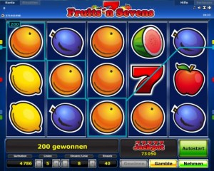 fruits sevens slot