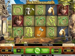 netent jack and the beanstalk spielen
