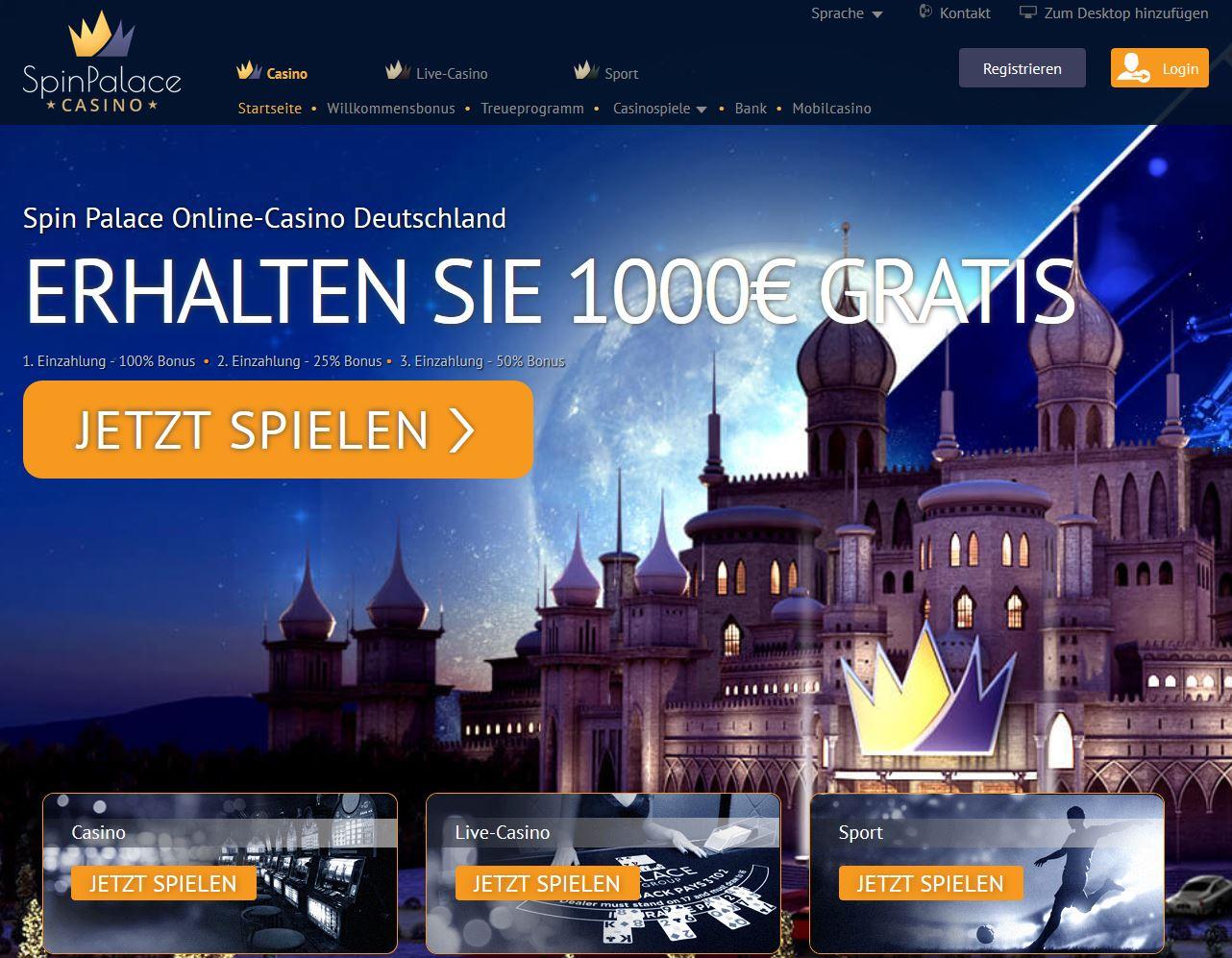 Spin Palace Online Spielen