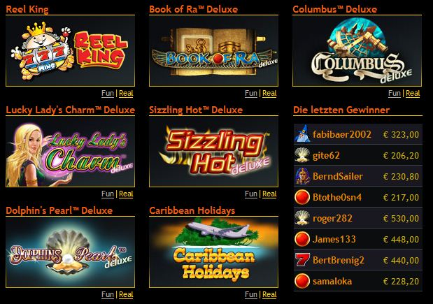 online casino schweiz sizzling hot games